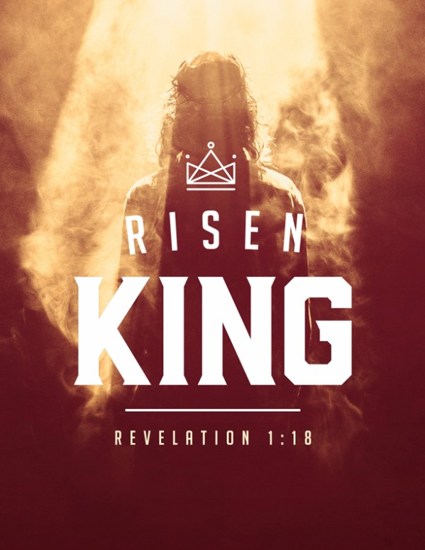Risen King Easter Church Flyer Template