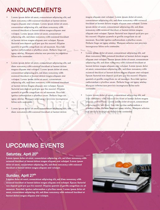 Stained Glass Easter Church Newsletter