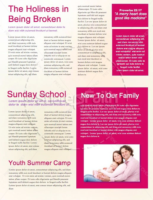 Women's Bible Study Church Newsletter