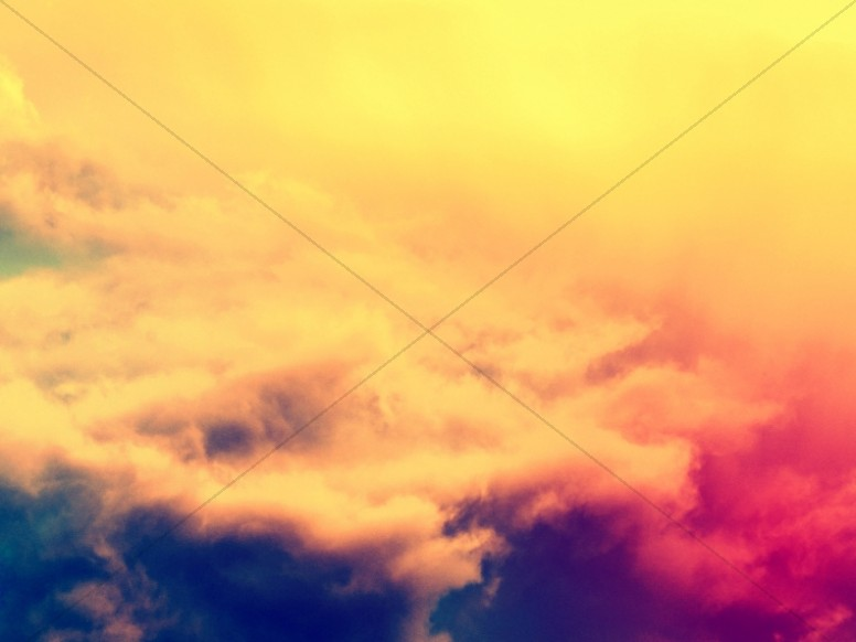 He Is Risen Easter Clouds Worship Background