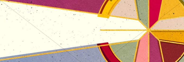 Stained Glass Easter Church Website Banner