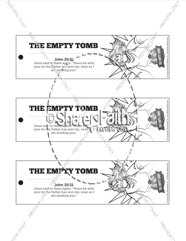 John 20 The Empty Tomb Bible Bookmarks