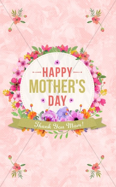 Happy Mother's Day Thank You Mom Bulletin Cover
