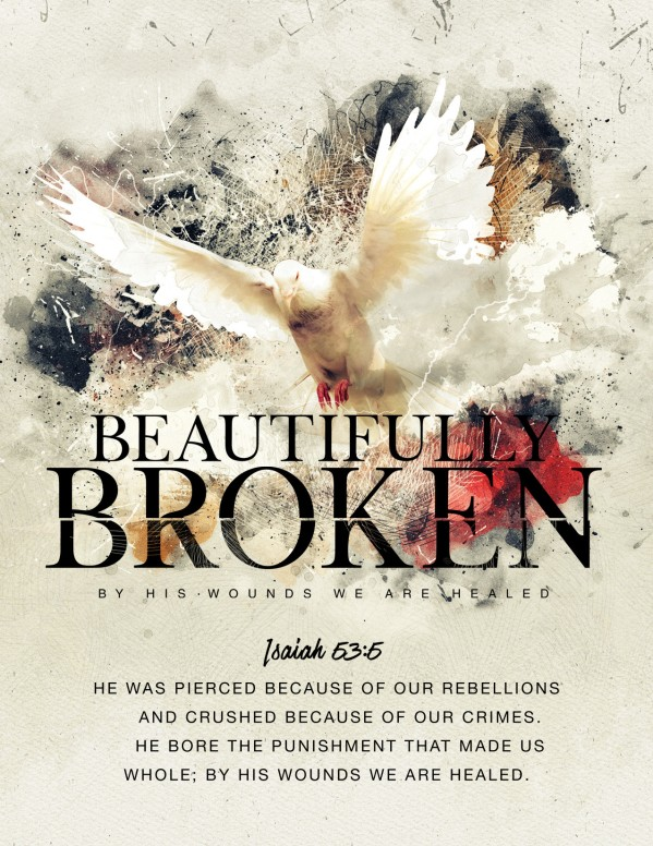 Beautifully Broken Good Friday Church Flyer