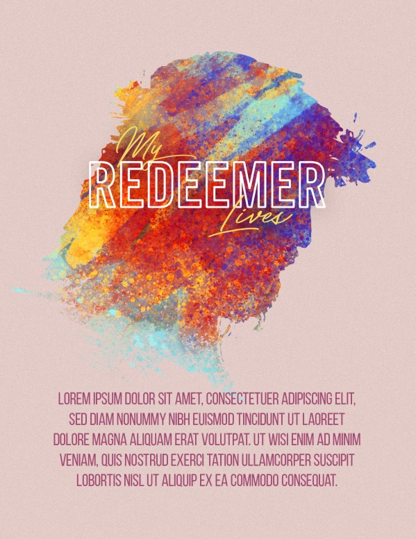My Redeemer Lives Church Easter Flyer