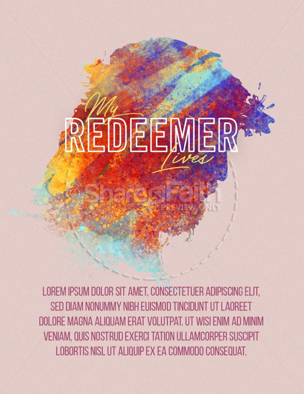 My Redeemer Lives Church Easter Flyer