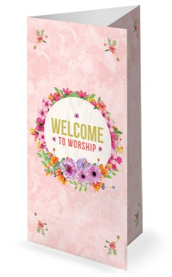 Happy Mother's Day Thank You Mom Trifold Bulletin Cover