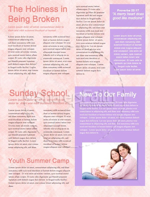 Happy Mother's Day Thank You Mom Church Newsletter