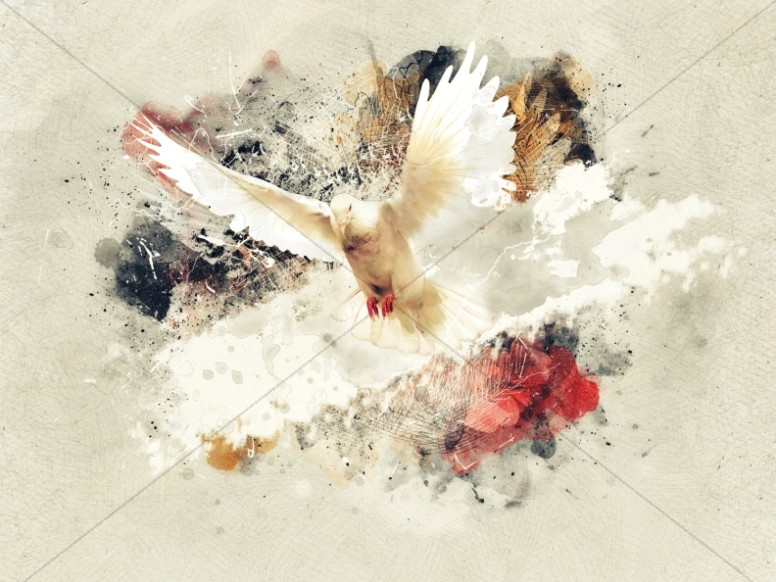 Beautifully Broken Good Friday Dove Worship Background