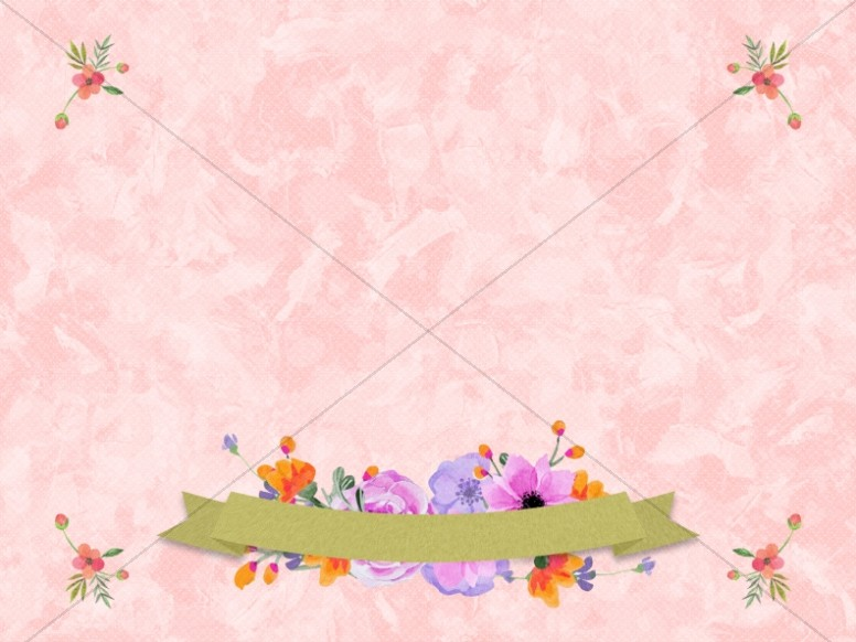Happy Mother's Day Floral Banner Worship Background