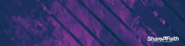 Purple Stripes Ink Drop Triple Wide Worship Video