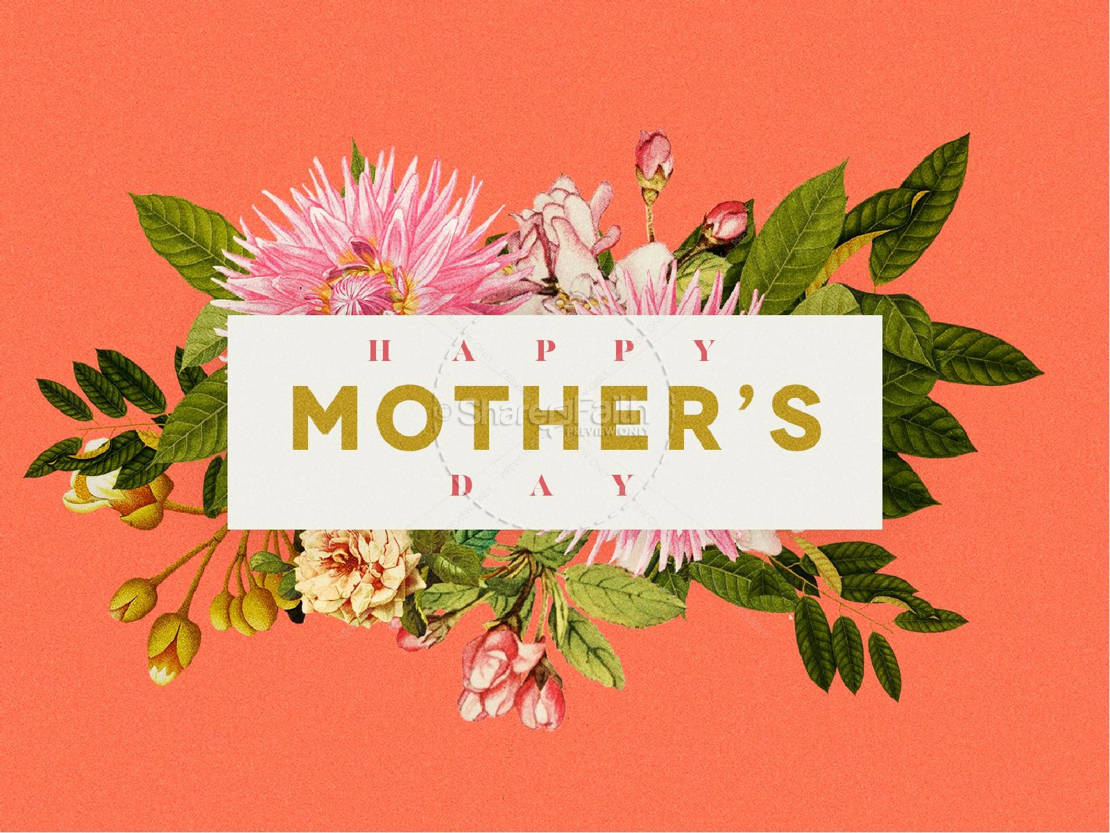 Mother's Day Flower Church PowerPoint | slide 1