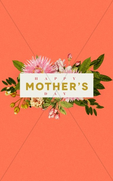Mother's Day Flower Church Bulletin