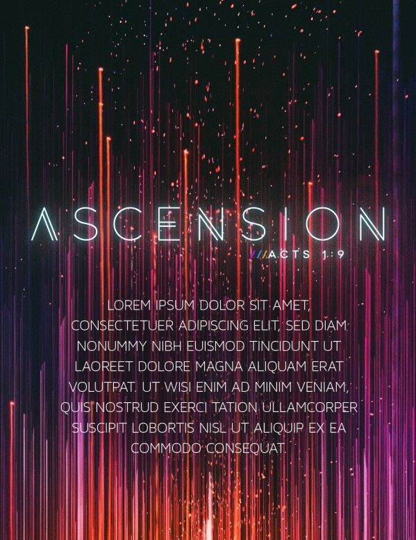 Ascension Day Modern Church Flyer  Christian Flyer Templates