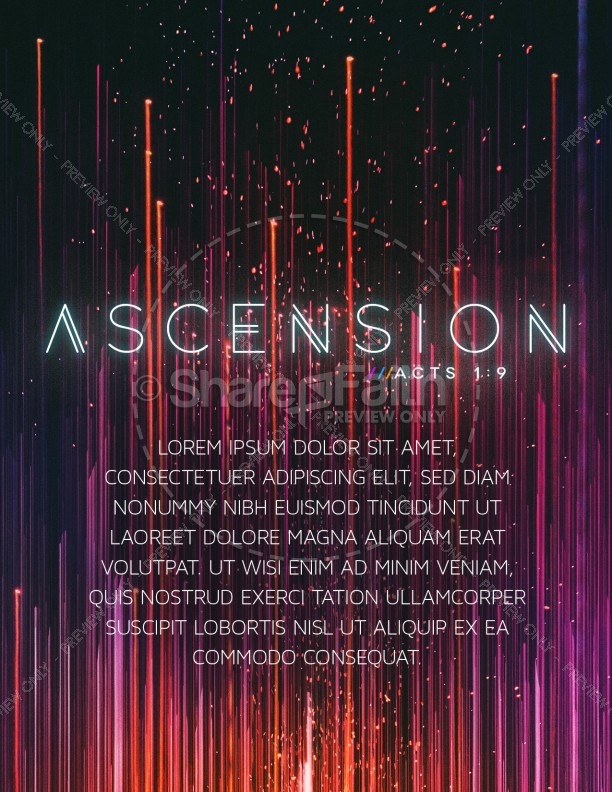 Ascension Day Modern Church Flyer | page 1