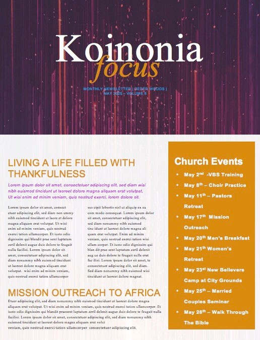 Ascension Day Modern Church Newsletter Template