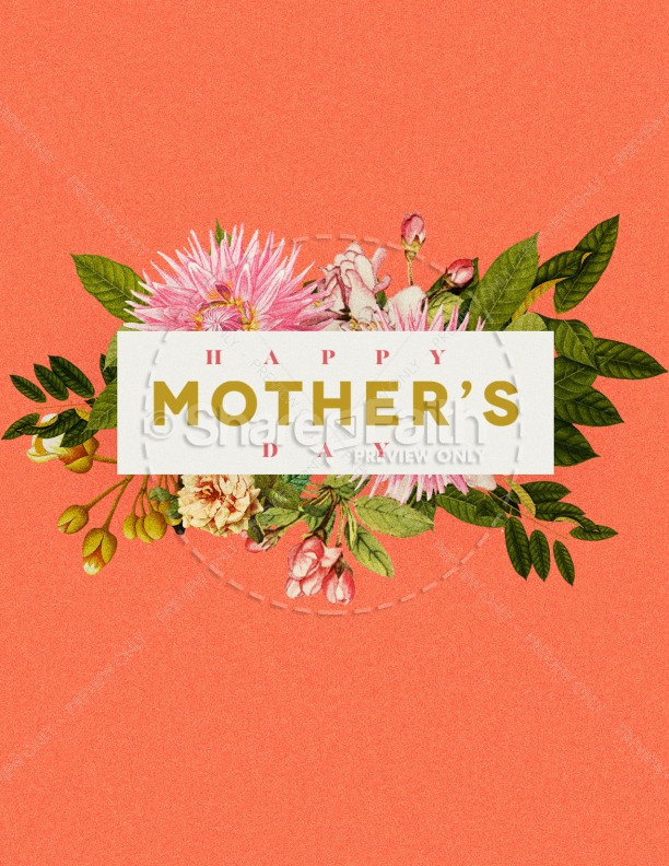 Mother's Day Flower Church Flyer