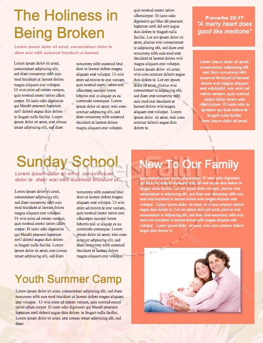 Mother's Day Flower Church Newsletter