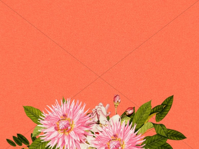 Mother's Day Flower Background Image