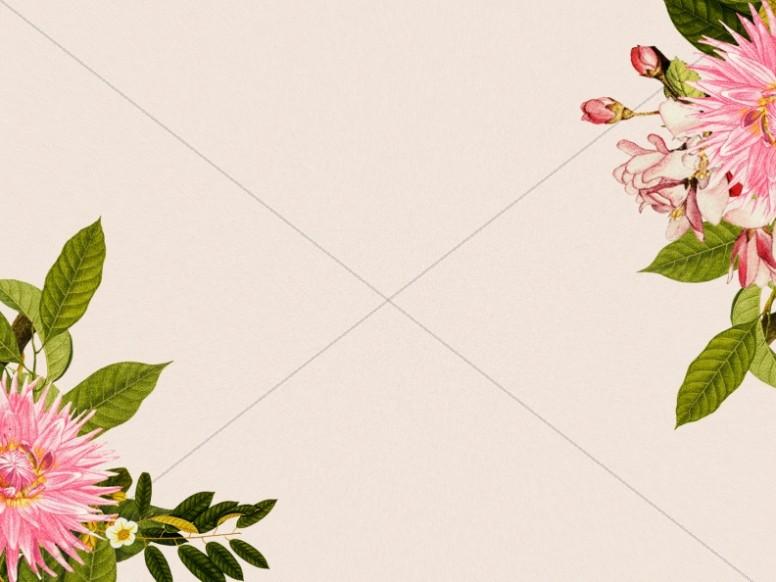 Mother's Day Flower Beige Worship Background