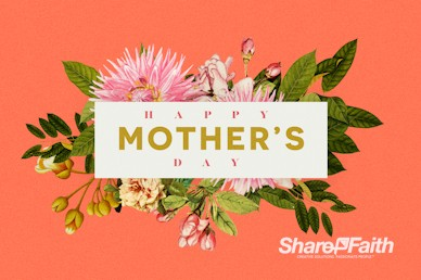 Mother's Day Flower Church Service Bumper Video