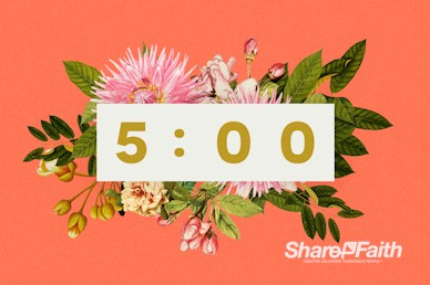 Mother's Day Flower Church Countdown Timer