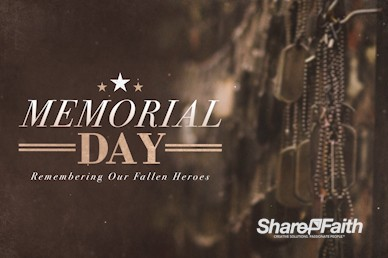 Memorial Day Dog Tags Service Bumper Video