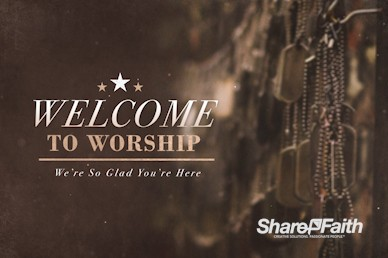 Memorial Day Dog Tags Church Welcome Video