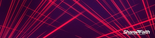 Abstract Lines Laser Light Triple Wide Worship Video Background