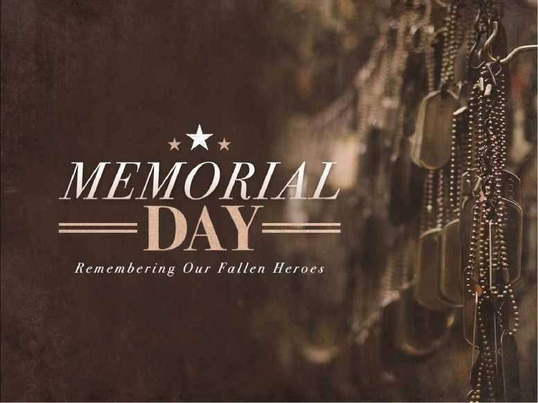 Memorial Day Dog Tags Church Sermon PowerPoint
