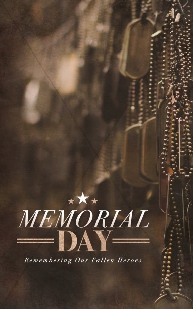 Memorial Day Dog Tags Church Bulletin Cover