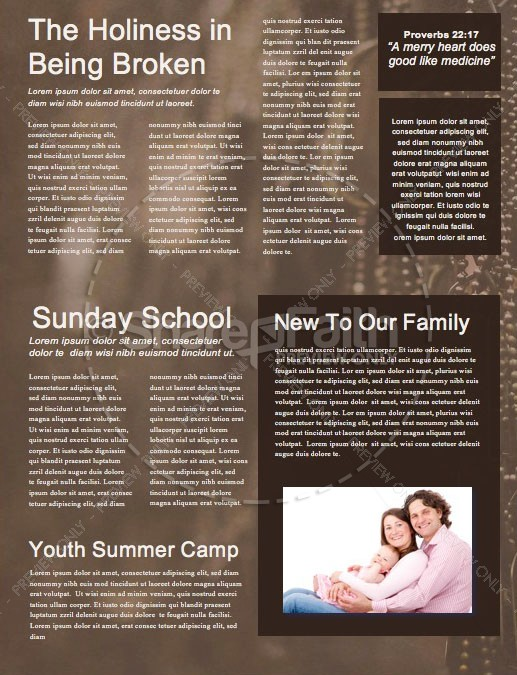 Memorial Day Dog Tags Church Newsletter Template