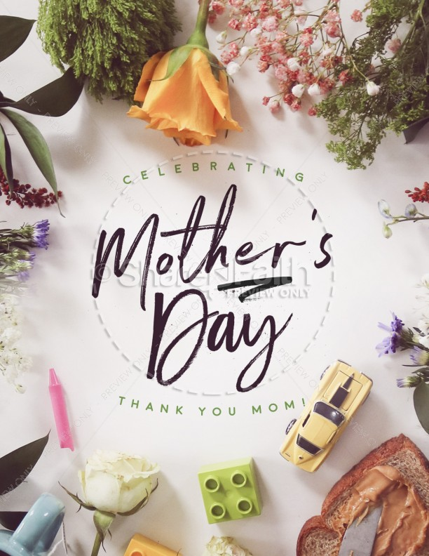 Celebrating Mother's Day Church Flyer Template