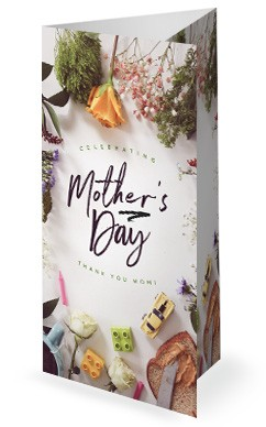 Celebrating Mother's Day Church Trifold Bulletin Template