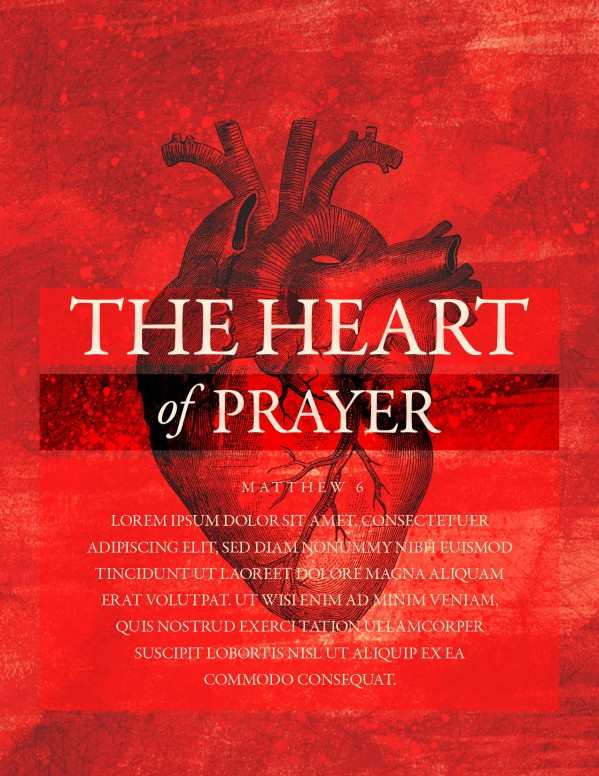 The Heart Of Prayer Church Flyer Template