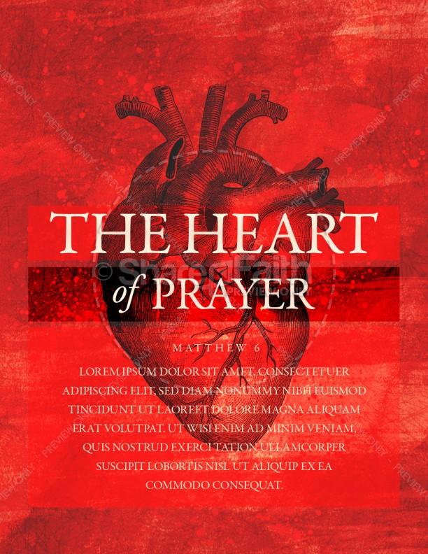 The Heart Of Prayer Church Flyer Template