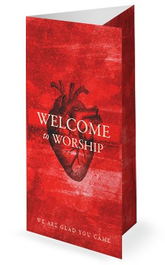 the heart of prayer church tri fold bulletin cover tri fold church