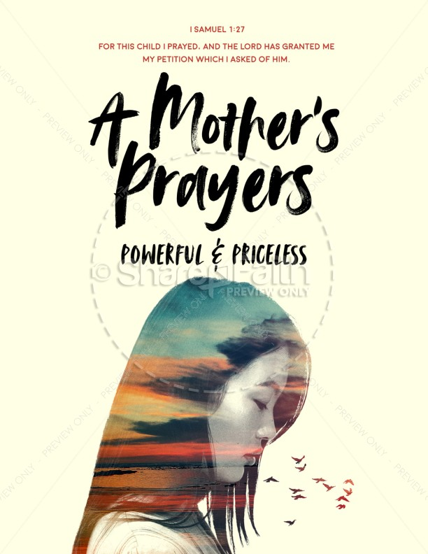 A Mother's Prayers Church Flyer