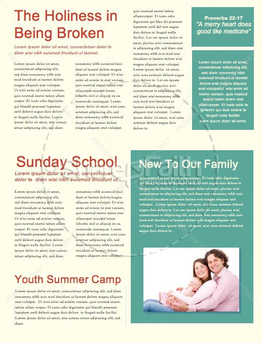 A Mother's Prayers Church Newsletter
