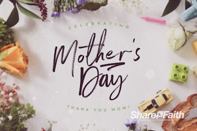 Celebrating Mother's Day Church Motion Graphic