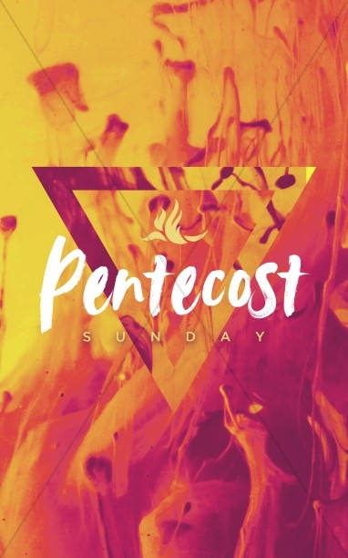 Pentecost Sunday Sermon Bulletin Cover