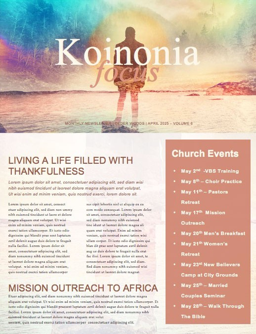 The Promised Land Church Newsletter Template