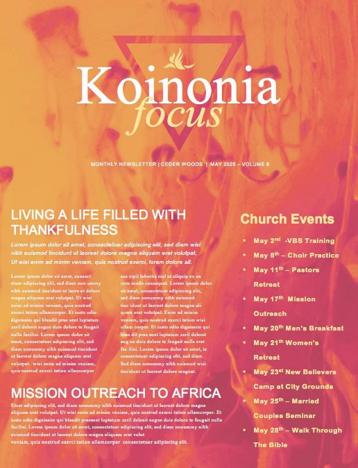 Pentecost Sunday Church Newsletter Template