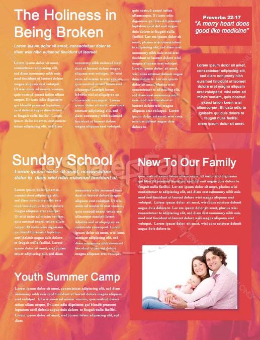 Pentecost Sunday Church Newsletter Template