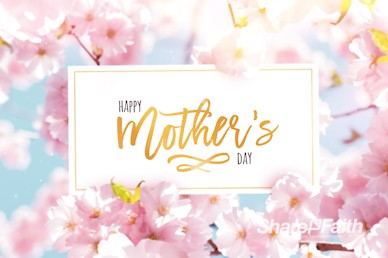 Mother's Day Cherry Blossom Church Motion Graphic