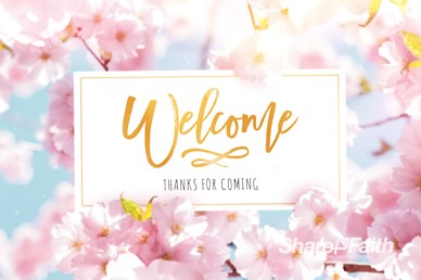 Mother's Day Cherry Blossom Welcome Motion Graphic