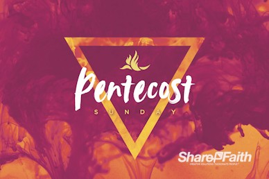 Pentecost Sunday Church Service Motion Graphic