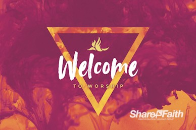 Pentecost Sunday Welcome Motion Graphic