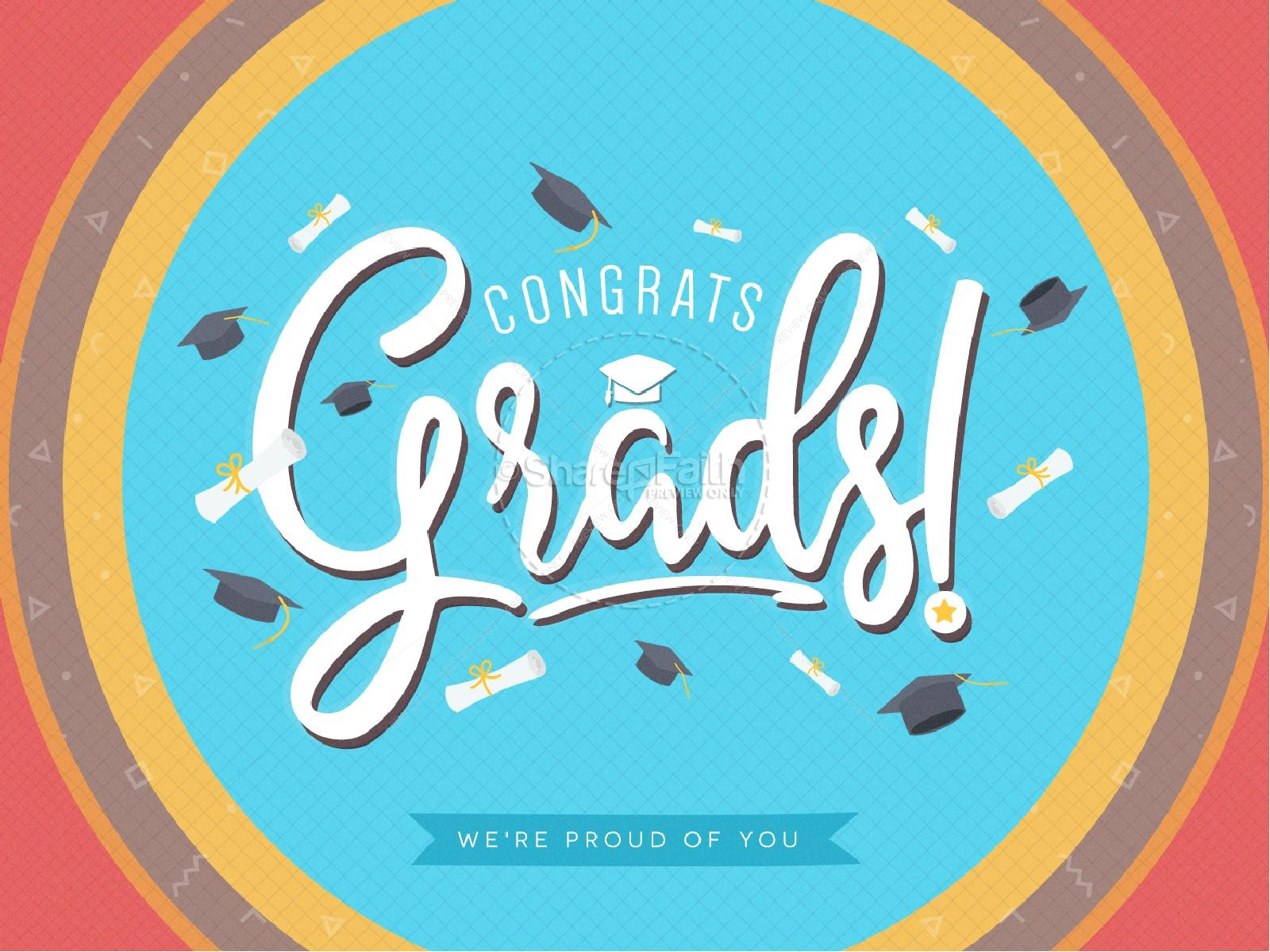 Congrats Grads Graduation PowerPoint Template | slide 1