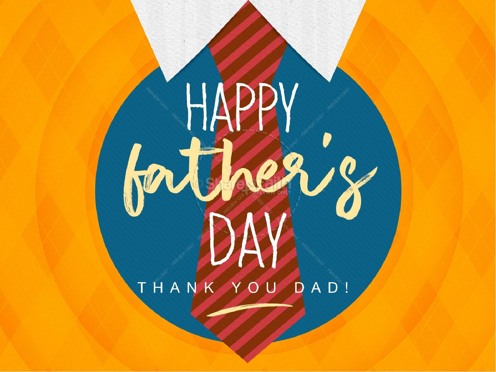 Happy Father's Day Argyle PowerPoint Template